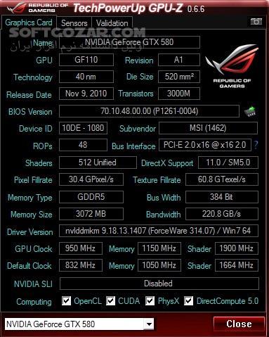 GPU Z 0.7.2   ROG Skin