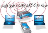 طریقه اشتراک  اینترنت از طریق وایرلس