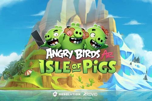 پرندگان خشمگین بازی پرندگان خشمگین Angry Birds AR: Isle of Pigs بازی اندروید بازی iOS