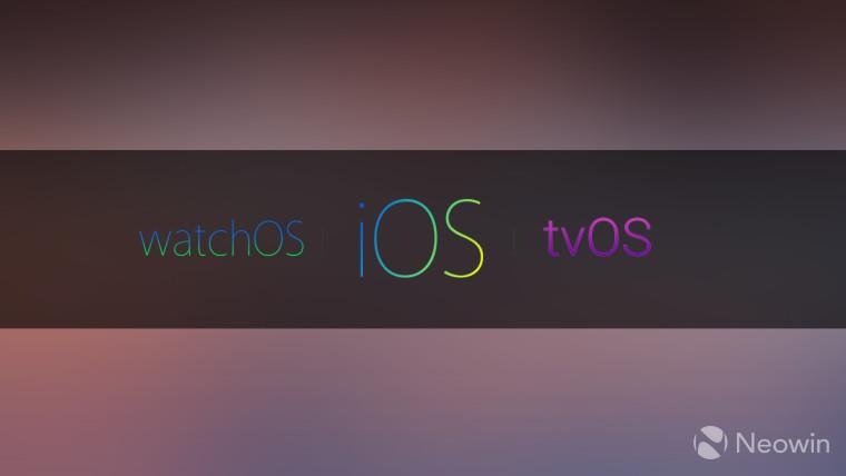 اپل WatchOS tvOS iOS iPadOS