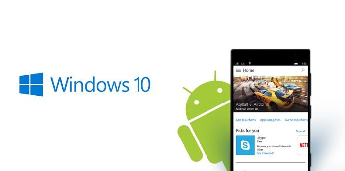 ویندوز ویندوز 10 سیستم عامل اندروید مایکروسافت