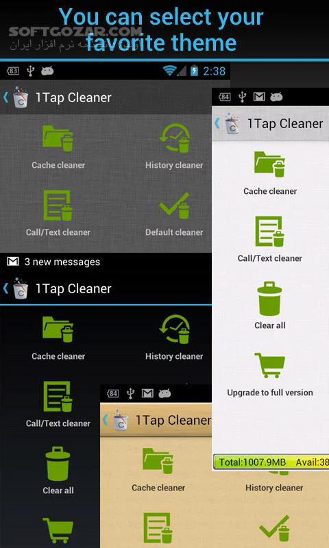 1Tap Cleaner Pro 3 61 for Android 4 1 تصاویر نرم افزار  - سافت گذر