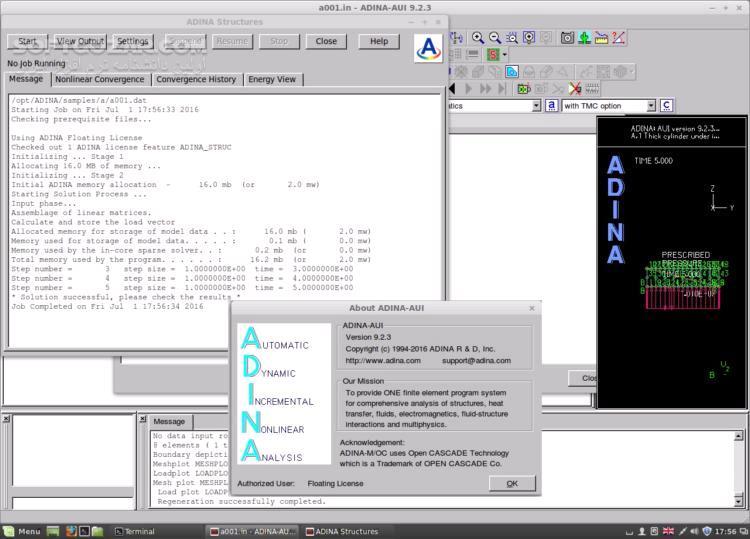 ADINA System 9 5 3 Win Linux x64 تصاویر نرم افزار  - سافت گذر