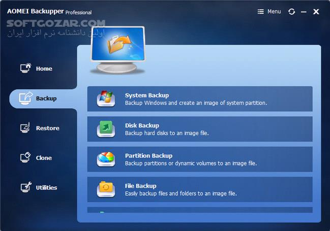 AOMEI Backupper Technician Plus 4 6 3 WinPE Boot ISO Legacy BIOS UEFI تصاویر نرم افزار  - سافت گذر
