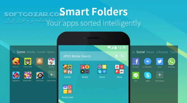 APUS Launcher 3 10 12 Build 504 Message Center 2 6 0 for Android 4 0 تصاویر نرم افزار  - سافت گذر