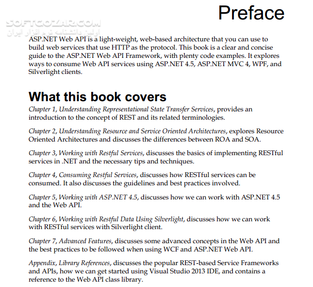 ASP NET Web API تصاویر نرم افزار  - سافت گذر