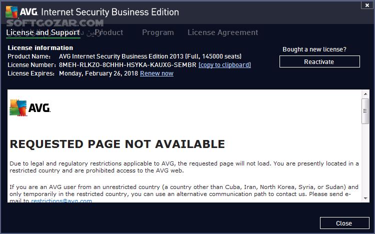 AVG Internet Security 19 5 3093 Build 19 5 4444 Anti Virus Free Offline Update تصاویر نرم افزار  - سافت گذر