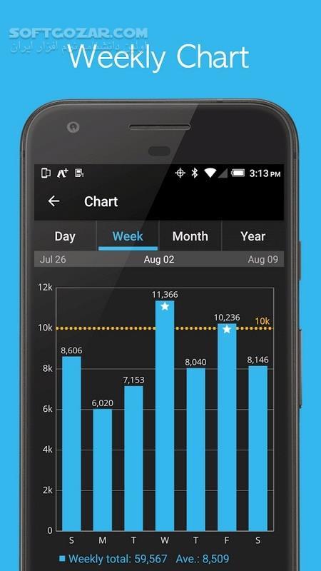 Accupedo Pro Pedomete 8 5 3G for Android 4 1 Mod تصاویر نرم افزار  - سافت گذر