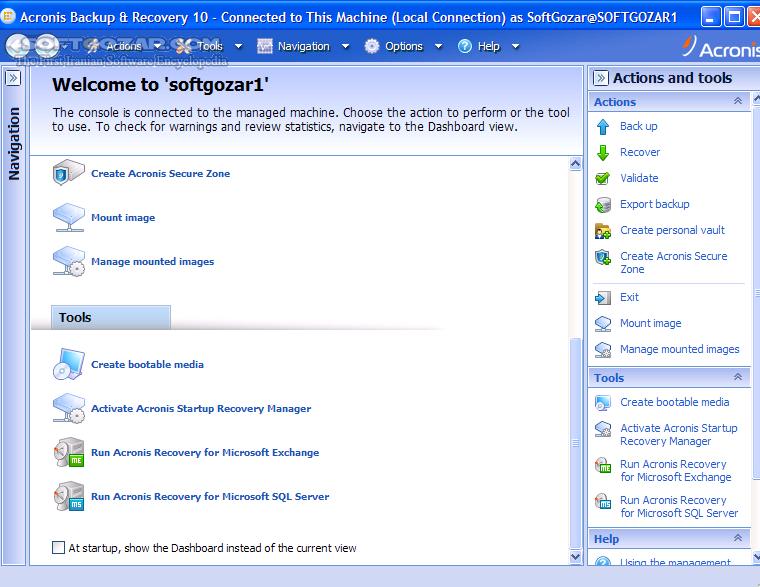Acronis Backup Advanced 11 7 50230 Bootable ISO تصاویر نرم افزار  - سافت گذر