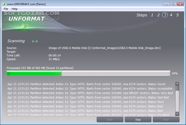 Active Unformat Professional 4 0 7 2 تصاویر نرم افزار  - سافت گذر
