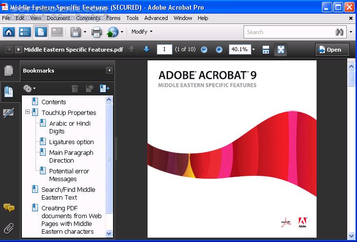 Adobe Acrobat 9 0 Pro Middle East (ME) Full تصاویر نرم افزار  - سافت گذر
