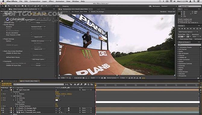 Adobe After Effects 2019 16 1 3 5 macOS 16 1 3 تصاویر نرم افزار  - سافت گذر