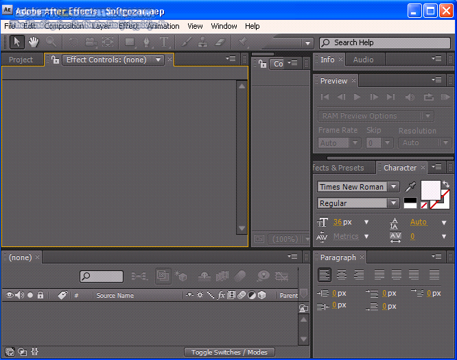 Adobe After Effects CS4 v9 0 تصاویر نرم افزار  - سافت گذر