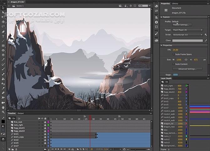 Adobe Animate CC 2019 v19 1 349 Portable macOS تصاویر نرم افزار  - سافت گذر