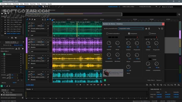 Adobe Audition 2020 13 0 0 519 Portable macOS 13 0 0 تصاویر نرم افزار  - سافت گذر