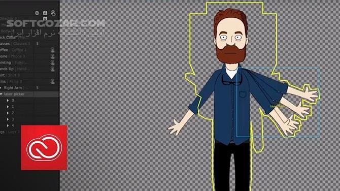Adobe Character Animator CC 2019 2 1 1 macOS 2 0 1 تصاویر نرم افزار  - سافت گذر