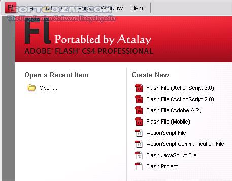 Adobe Flash CS4 Professional 10 0 2 تصاویر نرم افزار  - سافت گذر