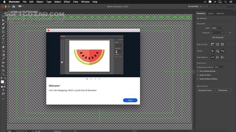 Adobe Illustrator 2020 24 0 0 330 macOS 24 0 0 تصاویر نرم افزار  - سافت گذر