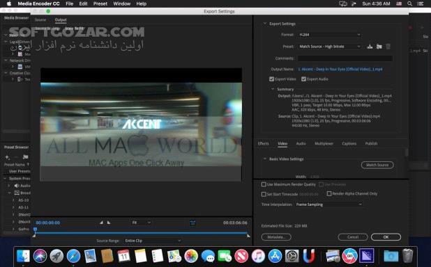 Adobe Media Encoder 2021 v15 2 0 30 2020 15 2 macOS تصاویر نرم افزار  - سافت گذر