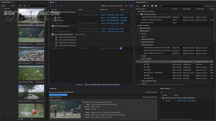 Adobe Media Encoder CC 2018 v12 1 2 69 x64 2017 Mac Portable تصاویر نرم افزار  - سافت گذر