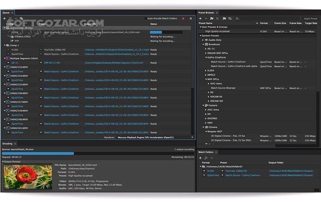 Adobe Media Encoder 2019 13 1 5 35 Portable macOS 13 1 5 تصاویر نرم افزار  - سافت گذر