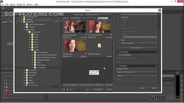 Adobe Prelude CC 2019 8 1 1 39 macOS 8 1 1 تصاویر نرم افزار  - سافت گذر