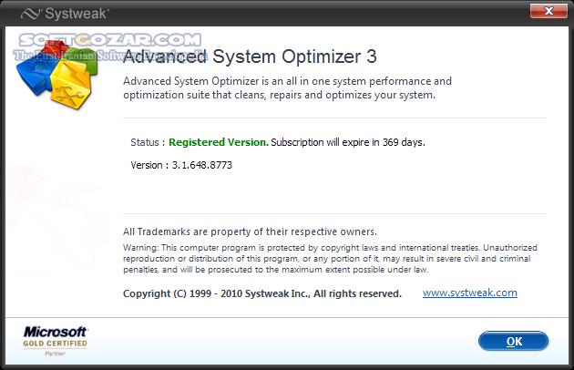 Advanced System Optimizer 3 9 3645 16880 Portable تصاویر نرم افزار  - سافت گذر
