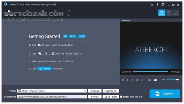 Aiseesoft Total Video Converter 9 2 30 Portable تصاویر نرم افزار  - سافت گذر