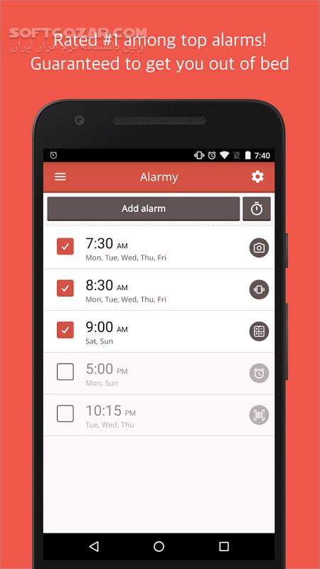 Alarmy (Sleep If U Can) – Pro 4 8 3 for Android 3 0 تصاویر نرم افزار  - سافت گذر