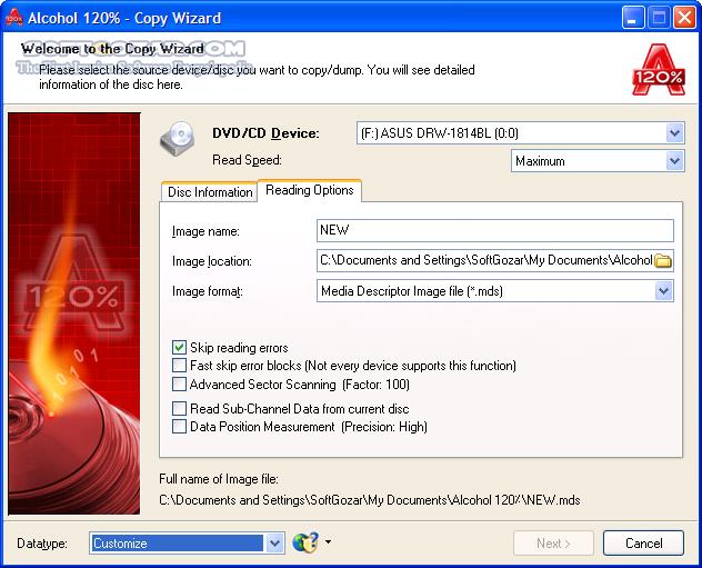 Alcohol 120 2 1 0 Build 20601 Portable تصاویر نرم افزار  - سافت گذر