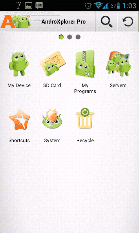 AndroXplorer Pro File Manager 4 6 3 8 for Android تصاویر نرم افزار  - سافت گذر