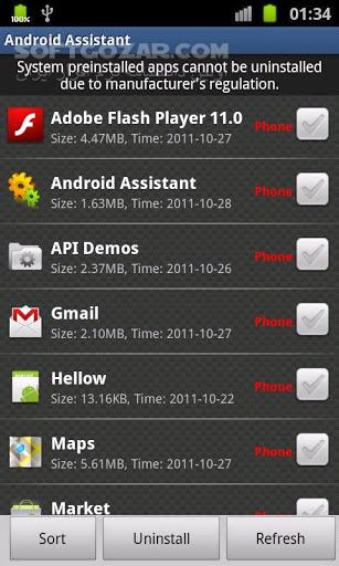 Assistant Pro 23 68 for Android 3 0 تصاویر نرم افزار  - سافت گذر