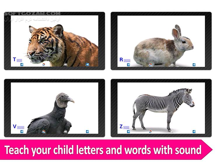Animal ABC 3 2 for Android 3 0 تصاویر نرم افزار  - سافت گذر