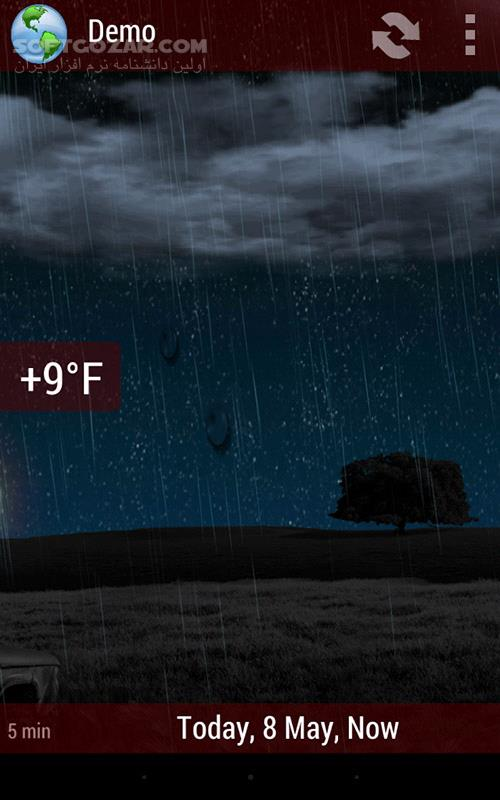 Animated Weather Widget Clock 6 7 1 5f1 for Android 4 0 تصاویر نرم افزار  - سافت گذر