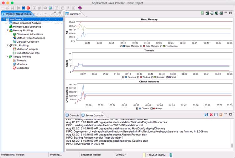AppPerfect Java Profiler 14 5 0 20150602 4143 x86 x64 Linux تصاویر نرم افزار  - سافت گذر