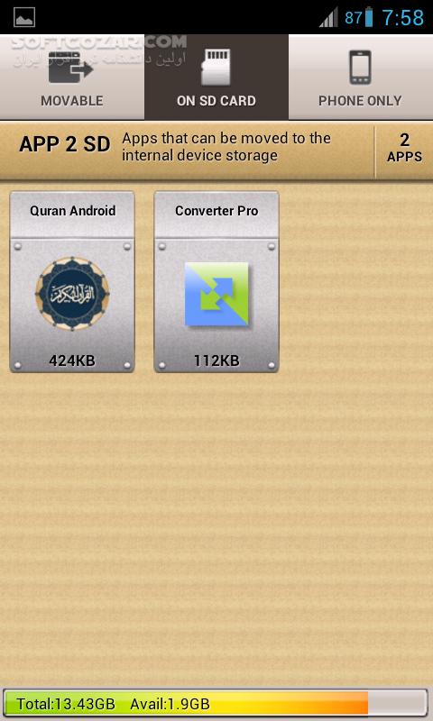 AppMgr Pro III 4 69 for Android 2 3 تصاویر نرم افزار  - سافت گذر