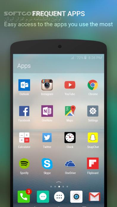 Microsoft Arrow Launcher 4 10 0 43525 for Android 4 0 تصاویر نرم افزار  - سافت گذر