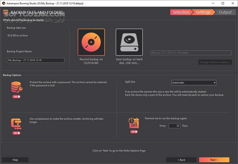 Ashampoo Burning Studio 20 0 4 1 Portable 19 0 5 1 Free 1 20 2 تصاویر نرم افزار  - سافت گذر