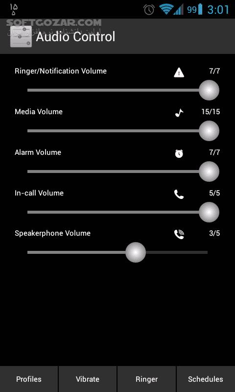 Audio Control 2 1 2 for Android تصاویر نرم افزار  - سافت گذر
