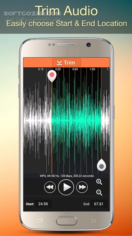 Audio MP3 Cutter Mix Converter and Make Ringtones 1 85 Pro For Android 4 0 تصاویر نرم افزار  - سافت گذر
