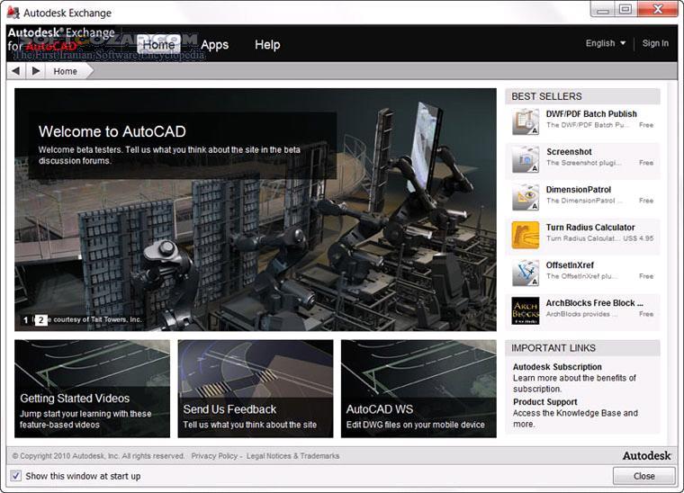 Autodesk AutoCAD 2012 SP2 x86 x64 تصاویر نرم افزار  - سافت گذر