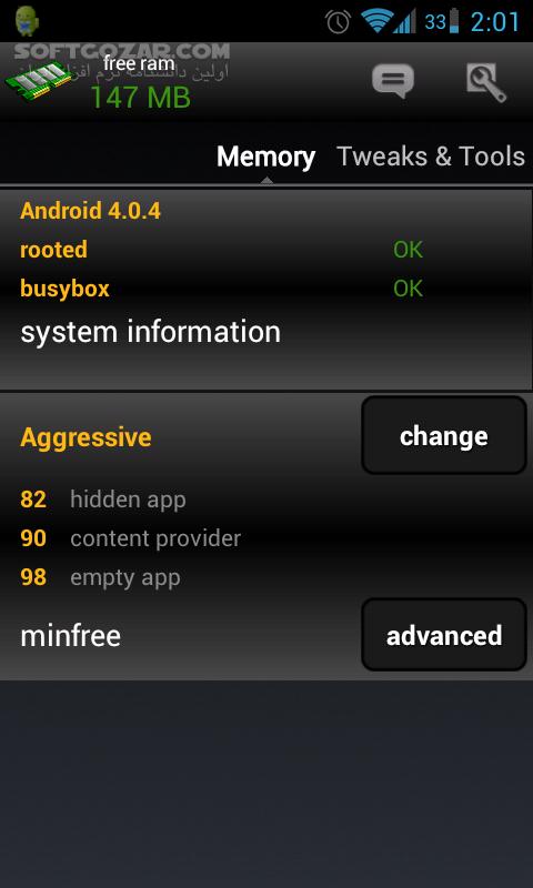 AutoKiller Memory Optimizer Pro 8 6 201 for Android 2 3 تصاویر نرم افزار  - سافت گذر