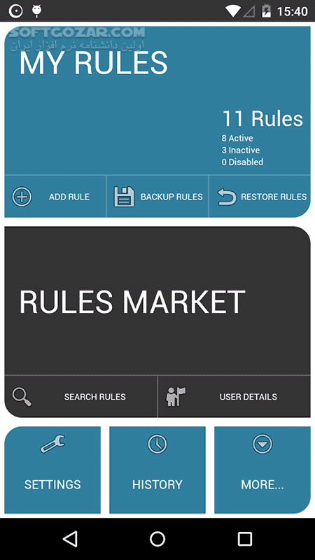 AutomateIt Pro 4 0 227 for Android 2 3 تصاویر نرم افزار  - سافت گذر