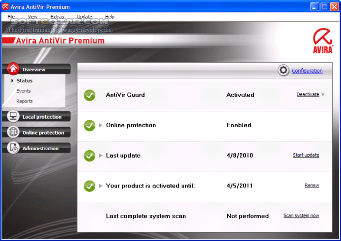 Avira Antivirus Pro 15 0 43 27 Free Mac تصاویر نرم افزار  - سافت گذر