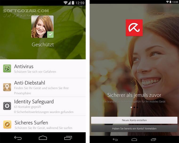 Avira Antivirus Security 5 6 3 For Android 4 0 3 تصاویر نرم افزار  - سافت گذر