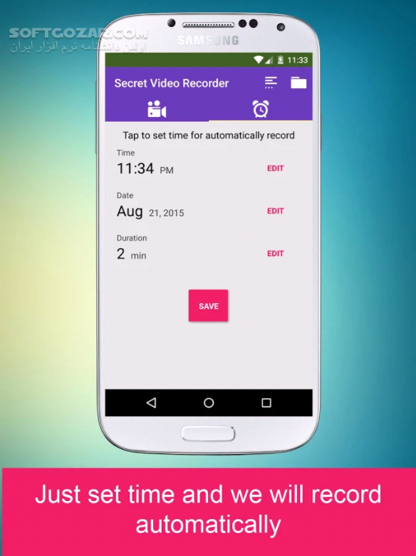 Background(Secret) Video Recorder Pro 1 3 1 0 for Android 4 0 3 تصاویر نرم افزار  - سافت گذر