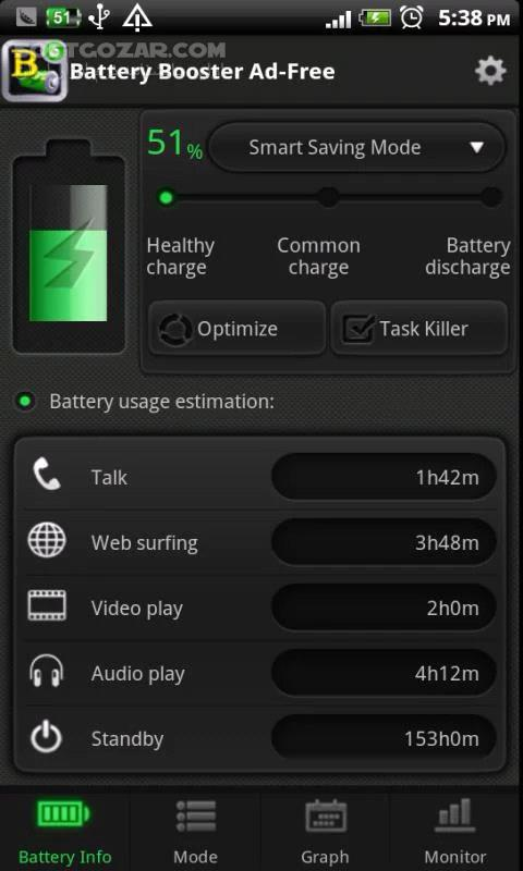 Battery Booster 7 2 9 for Android 2 1 تصاویر نرم افزار  - سافت گذر