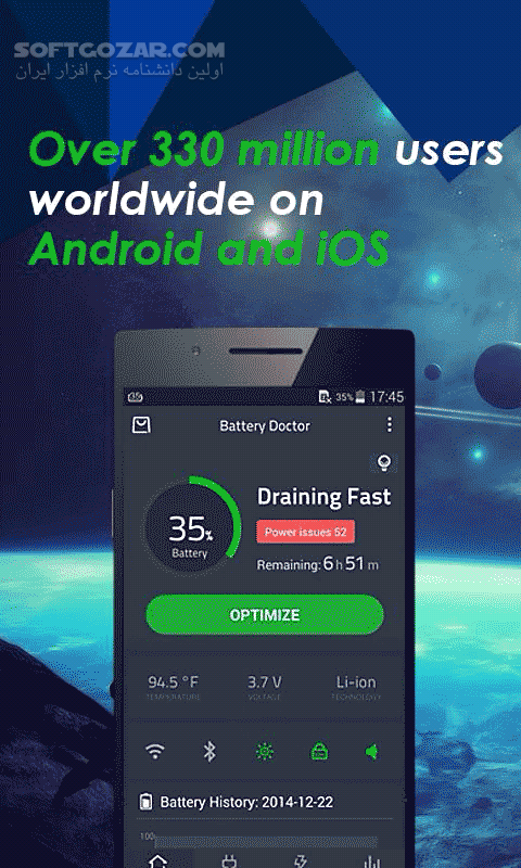 Battery Doctor 6 28 for Android 4 0 تصاویر نرم افزار  - سافت گذر