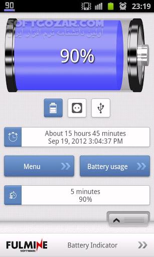 Battery Indicator Pro 2 7 6 for Android 2 1 تصاویر نرم افزار  - سافت گذر