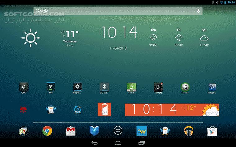 Beautiful Widgets 5 7 8 for Android 2 3 تصاویر نرم افزار  - سافت گذر